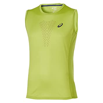 ASICS - Camiseta de Tirantes Running Fujitrail Sleeveless Top Amarillo M -: Amazon.es: Deportes y aire libre