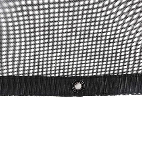 Tentproinc Truck Mesh Tarp 9' X 12' Black Heavy Duty Cover Reinforced Double Needle Stitch Webbing Ripping and Tearing Stop, No Rust Thicker Brass Grommets - 3 Years Limited Warranty by Tentproinc (Image #2)