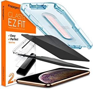 Spigen Tempered Glass Screen Protector [Glas.tR EZ Fit] designed for iPhone 11 Pro Max/iPhone Xs Max [2Pack] - Privacy