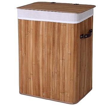 Jago Waschekorb In Bambusoptik Waschesammler Ecking Farb Und
