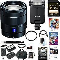 Sony 24-70mm f/4 Zoom Lens, HVLF20M MI Shoe External Flash Bundle Package