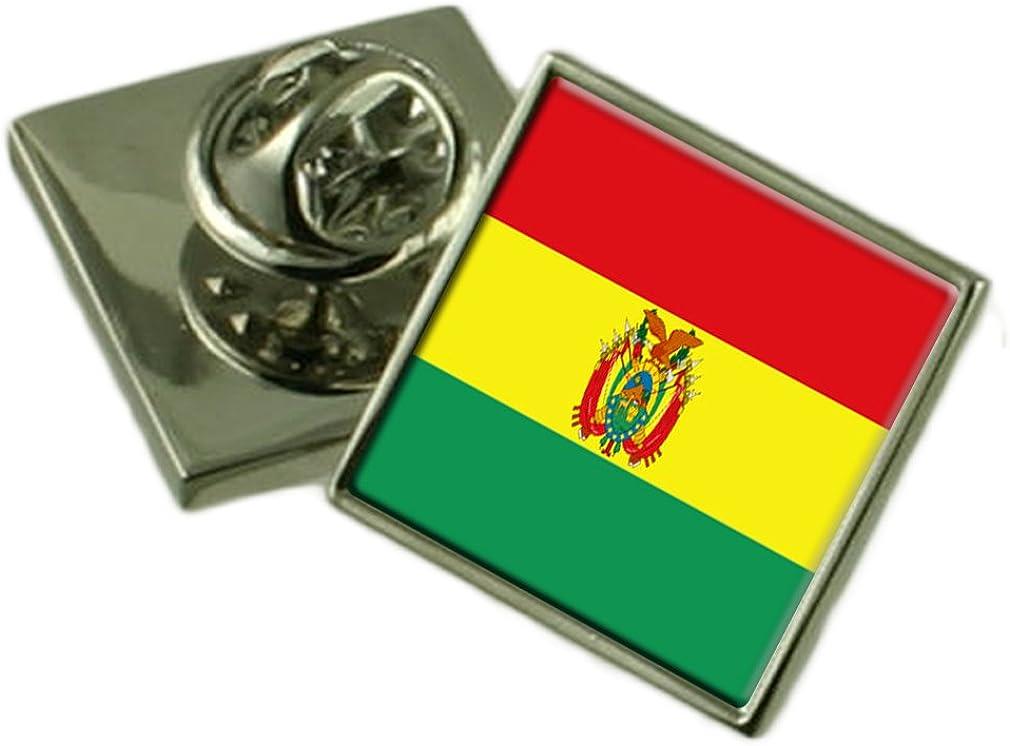 Bolivia Lapel Pin Badge Engraved Personalised Box