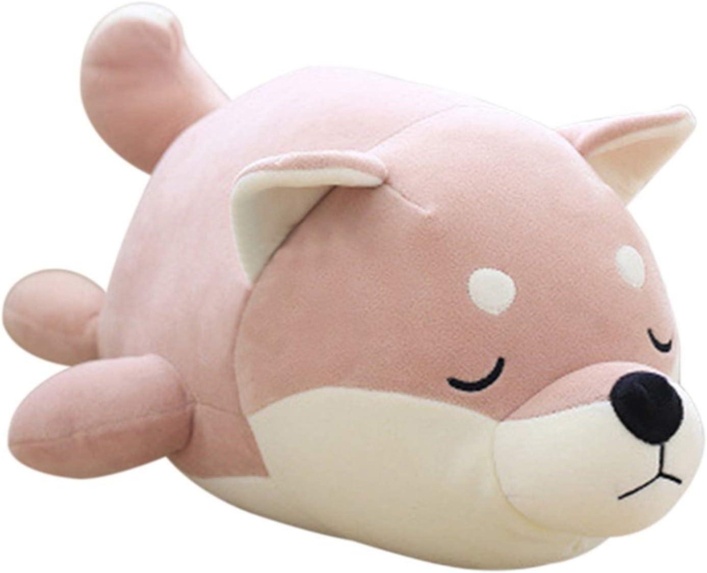 Molizhi Cute Anime Plushies Stuffed Animal Shiba Inu Plush Corgi Kawaii Plush Toys Hugging Pillow Dog Pillow Gift for Women Men Kids Boys Girls (Bean Paste, 13.8