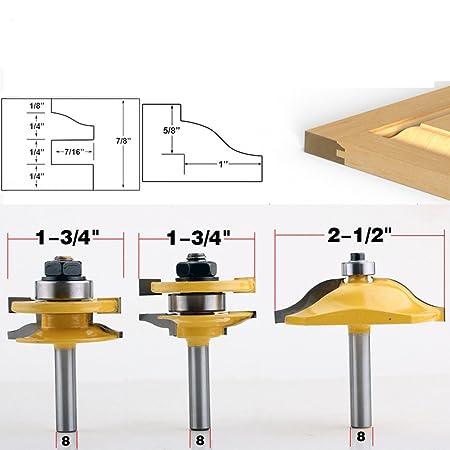 Akuta 8mm Shank High Quality Raised Panel Cabinet Door Router Bit