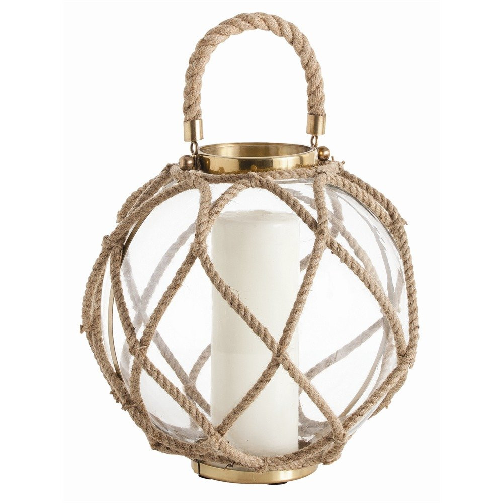 Arteriors Cormac Glass/Jute/Iron Lantern, Large