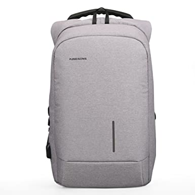 Kingsons New Arrival Anti-theft USB charging Men 13.6-15.6 inch Casual  Laptop Backpack c2b002b7dc714