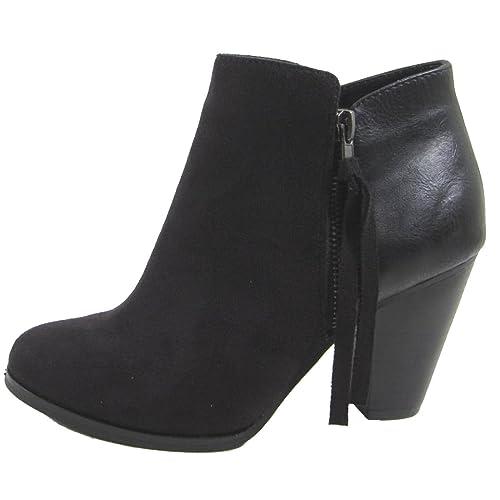 Black Heel Bootie: Amazon.com