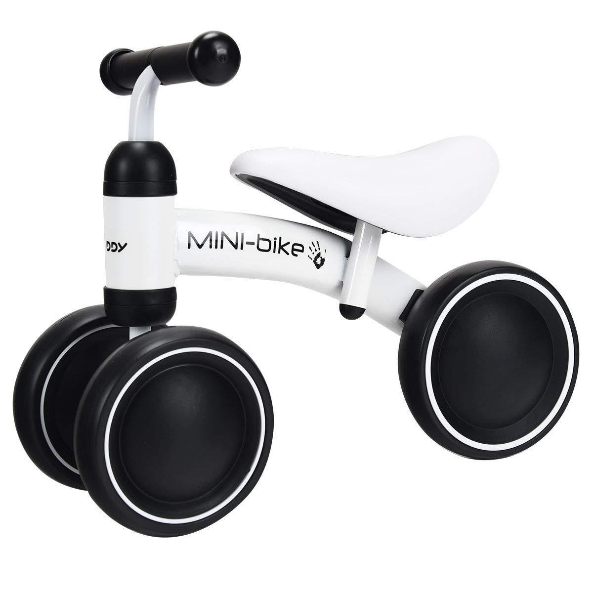 Costzon Baby Balance Bikes, Mini Bike Bicycle, Children Walker Toys Rides for 18-36 Months No Pedal Infant 3 Wheels Toddler Bike (White)
