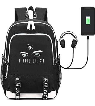 Amazon.com: Billie Eilish Mochilas Merch USB Carga Daypack ...