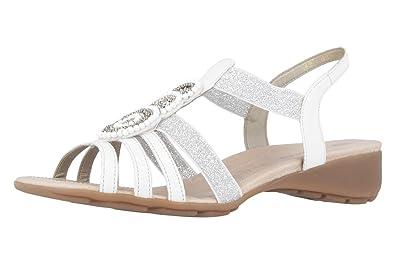 42 Chaussures Remonte Femmes Sandales Blanc R525080 EU qwxx0gzP7