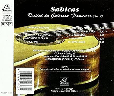 Recital De Guitarra Flamenca Vol.2: Sabicas: Amazon.es: Música