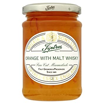 Tiptree Orange Marmalade with Malt Whisky Fine Cut (340g) - Pack of 6
