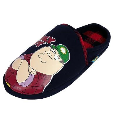 b0935d350cf9dd Family Guy Slip On 'Peter Griffin' Slippers-UK12: Amazon.co.uk ...