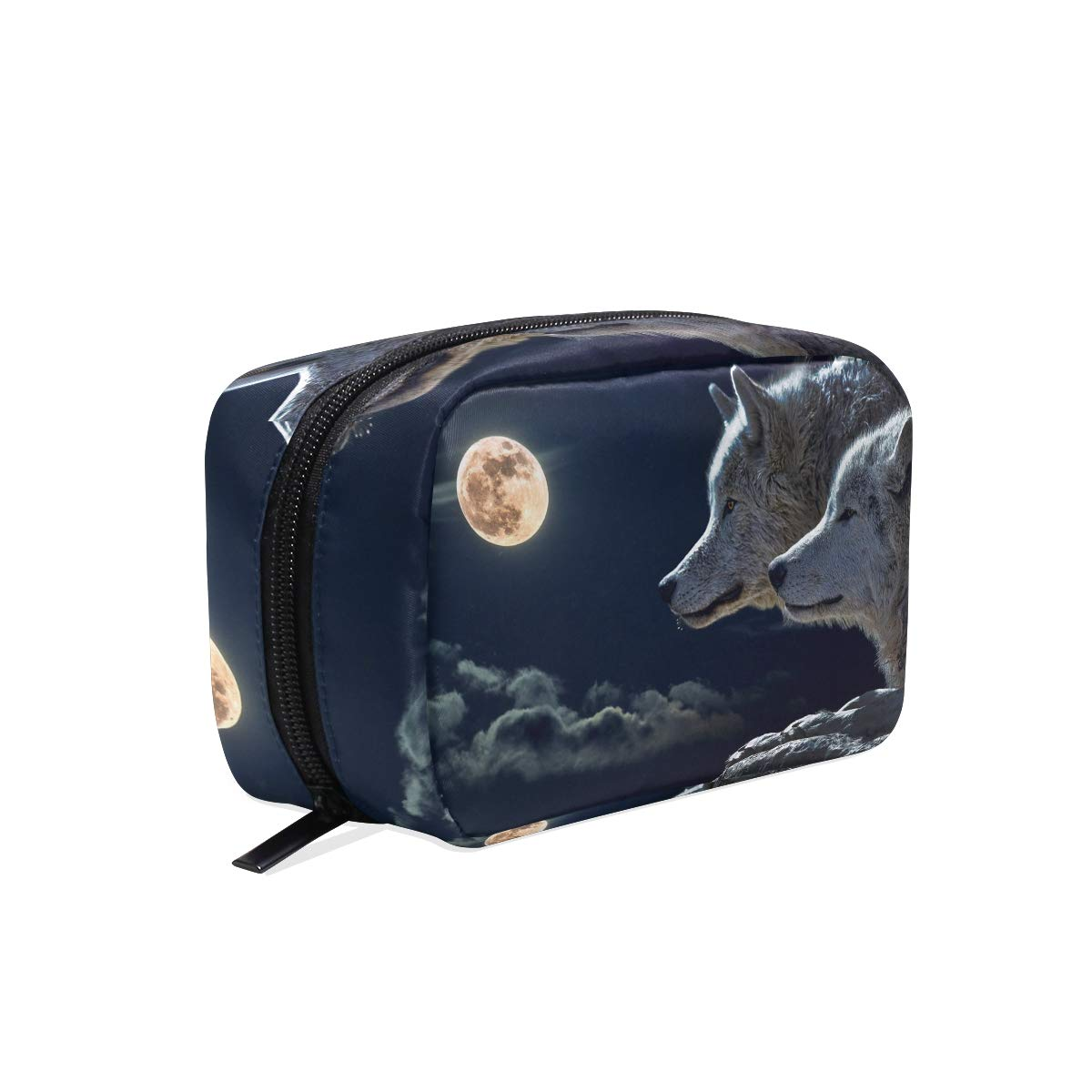 Wolf Travel Makeup Cosmetic Case Pouch Bag Zipper Portable Girl Women Cosmetic Organizer Storage Bags for Travel