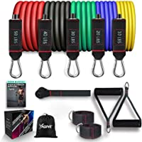 YALLOVE Workout Equipment for Home Workouts, Resistance Bands Set(11pcs), Bands Stackable up to 150lb, Strength Training…