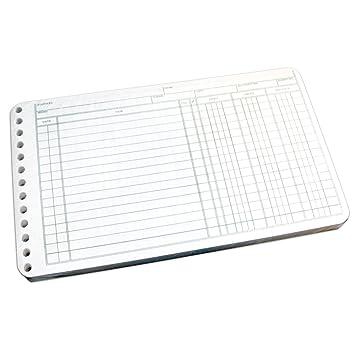 Amazon.com : Wilson Jones Ring Ledger Sheets, 5 x 8.5 Inches, 24 ...