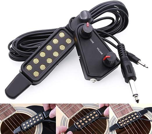 Pastillas de guitarra Volumen eléctrico Transductor ajustable ...