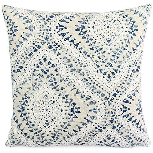 Waverly Square Print (Chloe & Olive Floral Ikat Print Throw Toss Pillow - 18