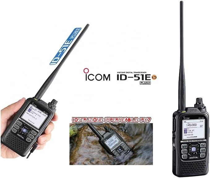 Icom id-51e – ricetrasmettitore vhfuhf D-Star con GPS ...