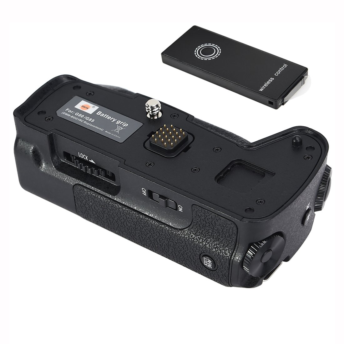 DSTE Pro Wireless Remote Control DMW-BGG1 Vertical Battery Grip for Panasonic Lumix DMC-G80 DMC-G85 G80 G85 Digital Camera as DMW-BLC12