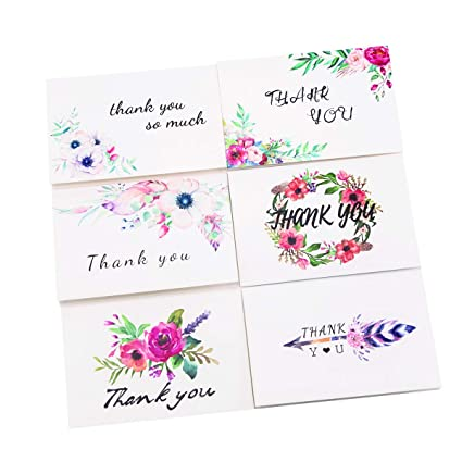 picture about Christmas Thank You Notes Printable identified as : 24x Thank On your own Playing cards Floral Flower Greeting