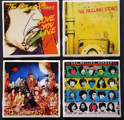 (Set of four Rolling Stones Album Art Ceramic Coasters)