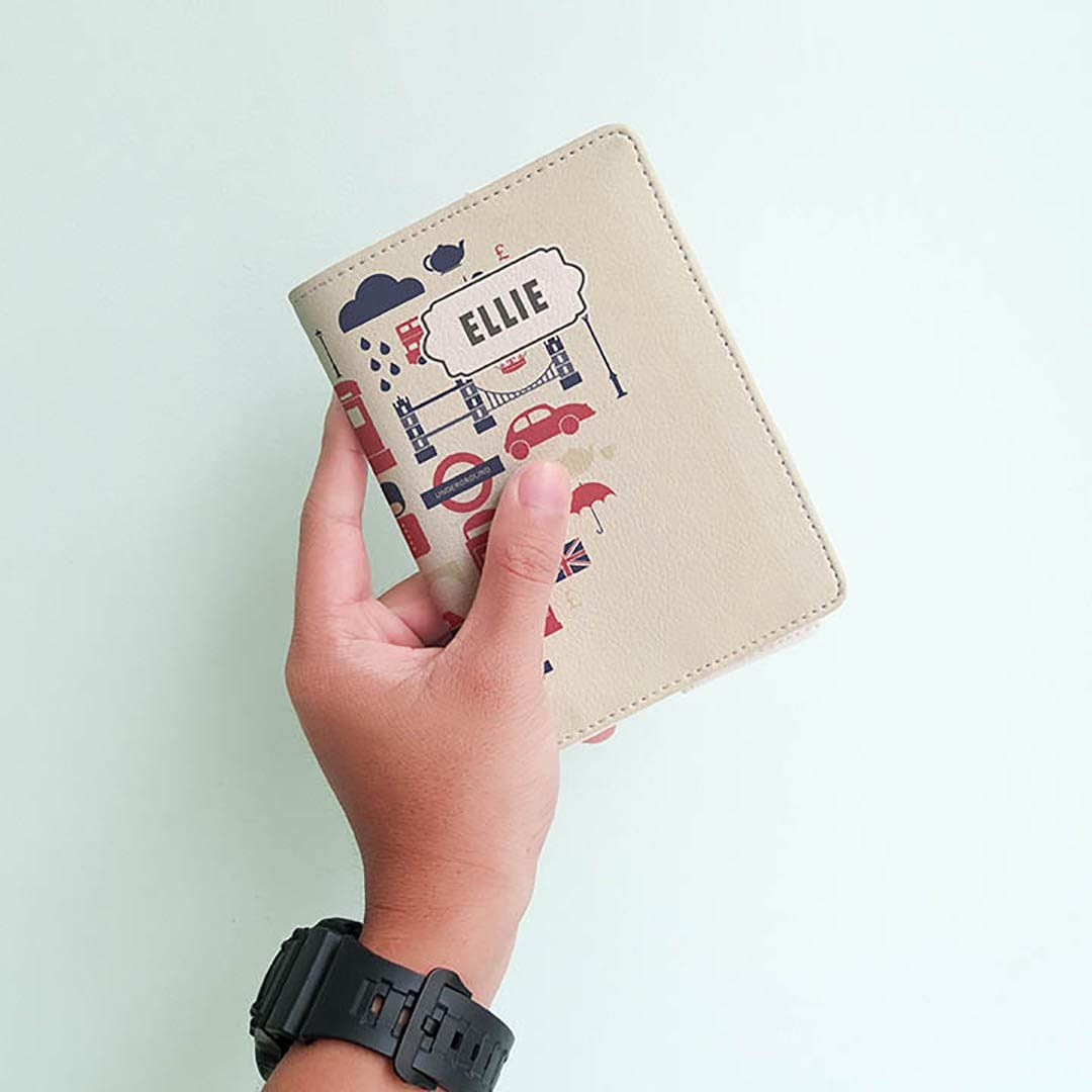 Travel Gifts Personalized Leather Passport Holder Wanderlust Collection