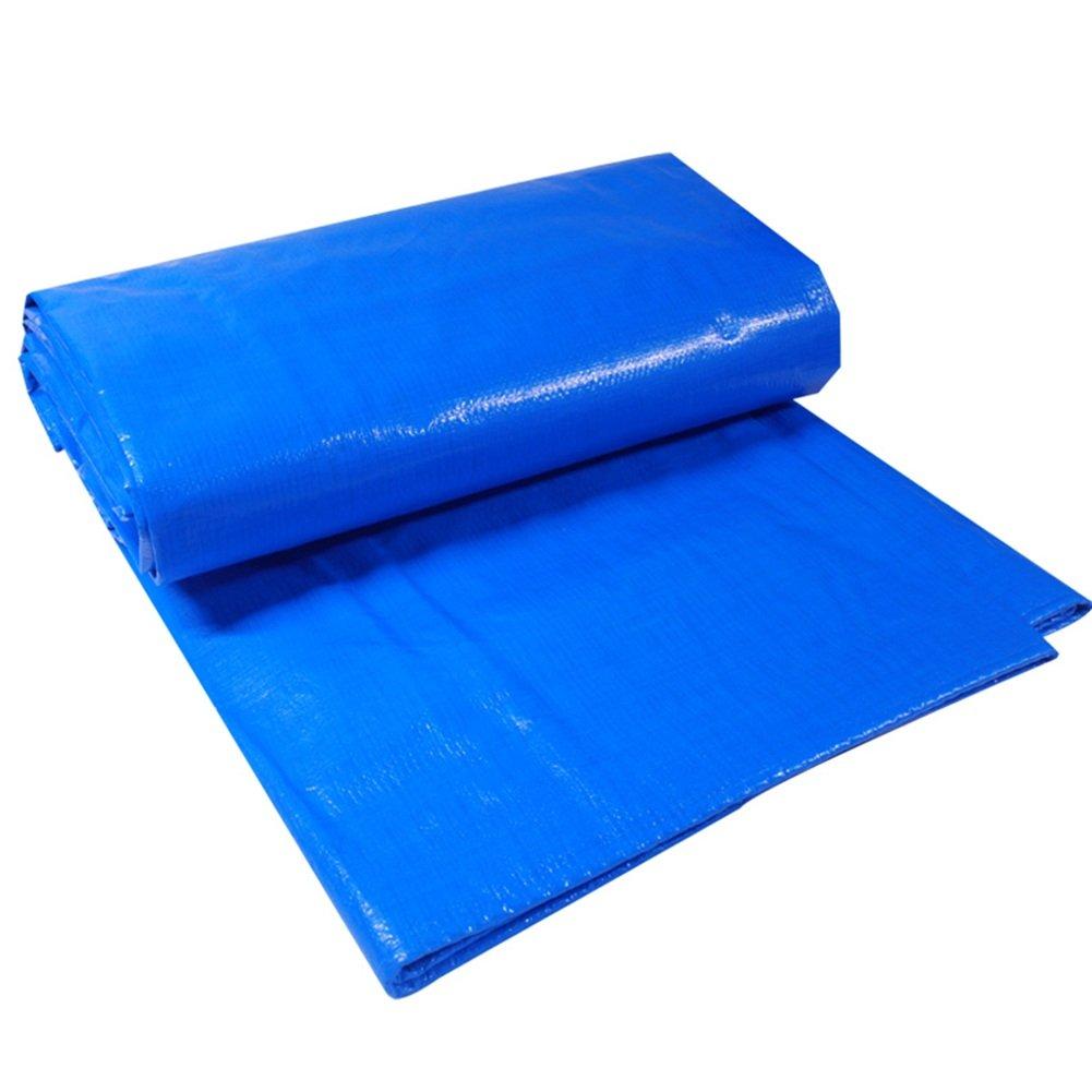 bleu+Orange 5x6M MDBLYJAuvent Pare Soleil et Tissu Froid BÂche épaisse, Camion abri Pluie visière Isolation bÂche Haute température Anti-vieillisseHommest, Bleu + Orange