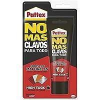 Pattex No Mas Clavos Para Todo HighTack Adhesivo de montaje resistente a temperaturas extremas, pegamento fuerte en superficies húmedas, Blanco, 1 tubo x 142 g