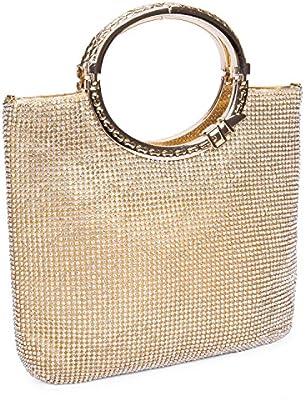 Baglamor Mujer Bolso de Cristal Bolso de Diamantes Imitación Bolso Bolsas de Noche Bolsa de Embrague Bolsa de Boda