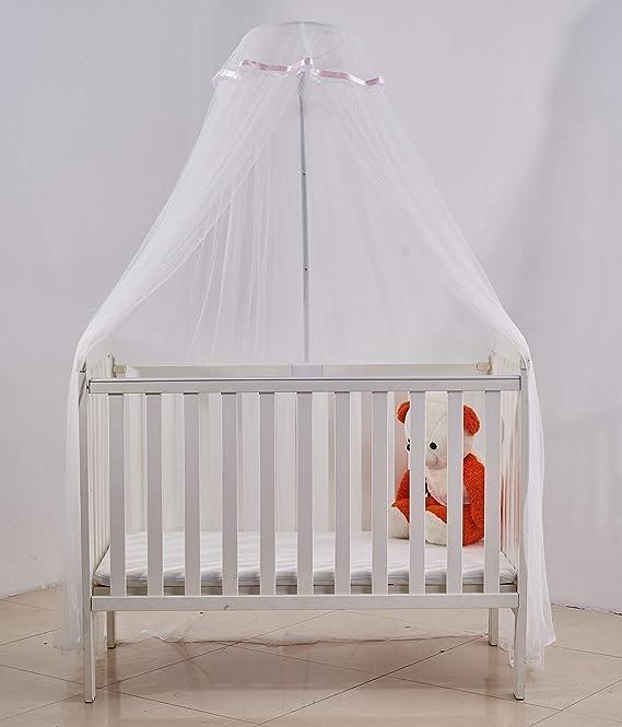 Moustiquaire pour Berceau Lit de Bébé Nouveau-née Auvent Enfant Moustiquaire à Polyester Couvre Tout le Lit Anti-Moustique Poussière avec Support Fixation