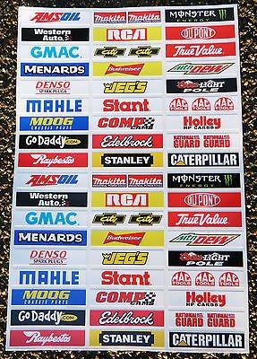 SLOTCAR SCALEXTRIC NASCAR STOCKCAR 1/32nd Barrier aufkleber zeichen Zeichen x52