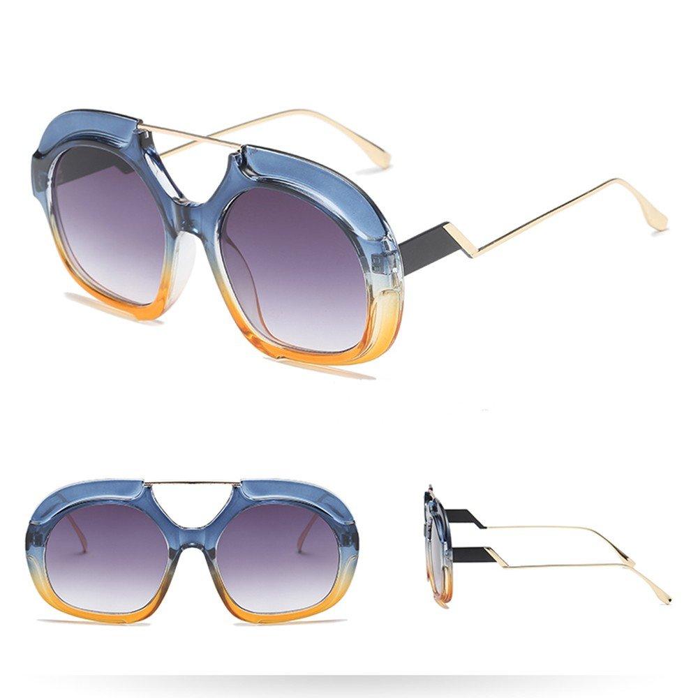 Holata Women Man Fashion Vintage Irregular Round Frame Sunglasses Eyewear Retro Unisex
