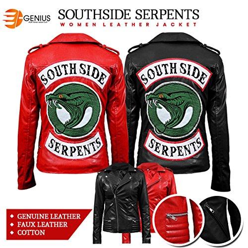Fiore Serpenti Nero E Morbido Di Hi Donne Riverdale Qualità Cotone Delle 100 Giacca Cheryl Finta Vera Pelle Southside wEx5nZvqB