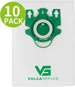 Volca Spares Type U Bags for Miele Dynamic U1 S7000 Upright Vacuums, Air Clean 3D Effiency, 10 Bags 2 Filters, 10123230