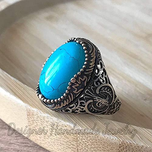 925 sterling silver silver Turquoise ring stone ring Turquoise ring silver ring Natural Turquoise Silver Ring handmade