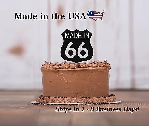 Decoración para tarta con base de recuerdo de Ruta 66 para ...