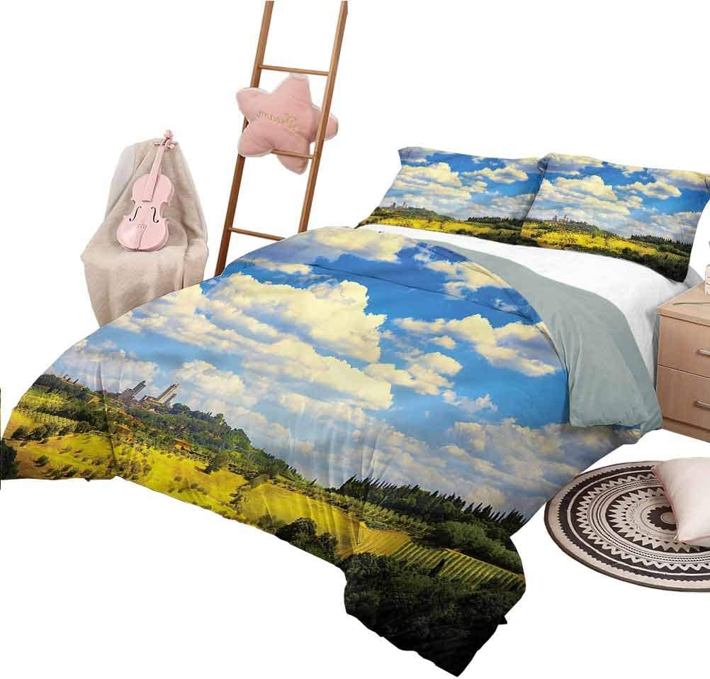 Nomorer Quilt Set King Size Italian Bedroom Decoration Bed Set Historic Village Scenery