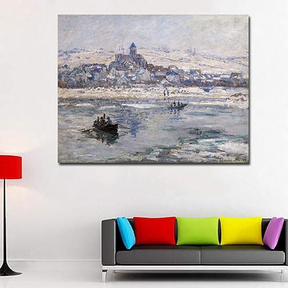RTCKF Pintor Famoso Monet Pintura Abstracta Imprimir Arte ...
