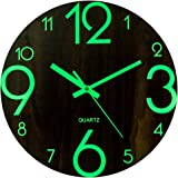 Mecotech 30cm Reloj Luminoso Pared Reloj Pared Silencioso Luminoso Reloj de Pared para Decoración de Cocina