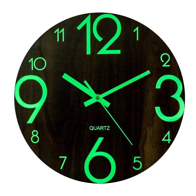 Reloj de pared neón luminosos decorativo oficina