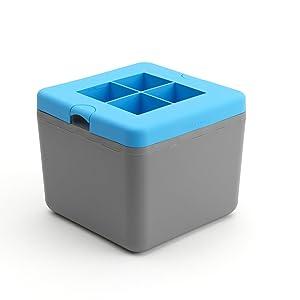 True Cubes Clear Ice Cube Tray: 4-cube tray
