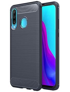 TTVie Funda para Huawei P30 Lite, Carcasa Caso Cubierta de Protección de TPU Silicona con Textura de Fibra de Carbono para Huawei P30 Lite Smartphone ...