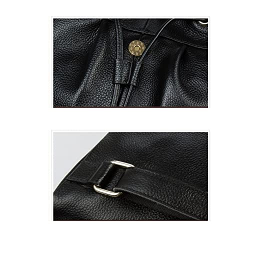 d4a72dfb1683 Amazon.com  JeHouze Fashion Women Handbag Genuine Leather Backpack Casual  Shoulder Bag Anti-theft purse(Black)  Home   Kitchen