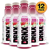 DRNX Sugar Free Fruit and Spice Infused Adaptogenic Water, Strawberry Cucumber - 16 Fluid Ounce Bottles, 12 Pack
