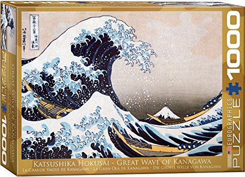 EuroGraphics Great Wave Kanagawa by Hokusai Puzzle - 1000 Waves
