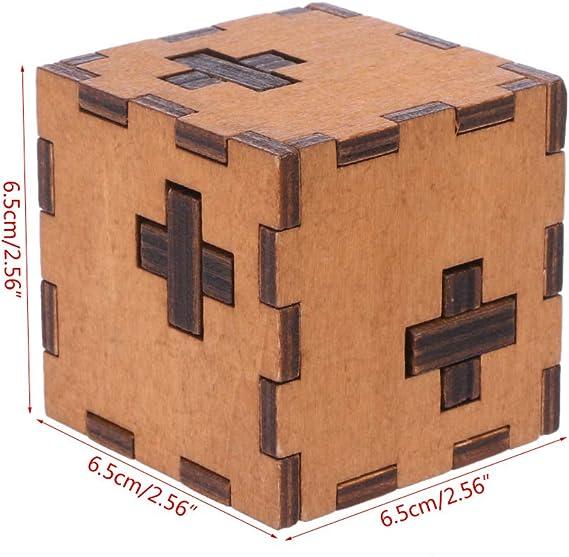 JERKKY Suiza Cubo Caja de Rompecabezas Secreta de Madera Juguete de Madera Cazador para niños Juguete para niños: Amazon.es: Hogar