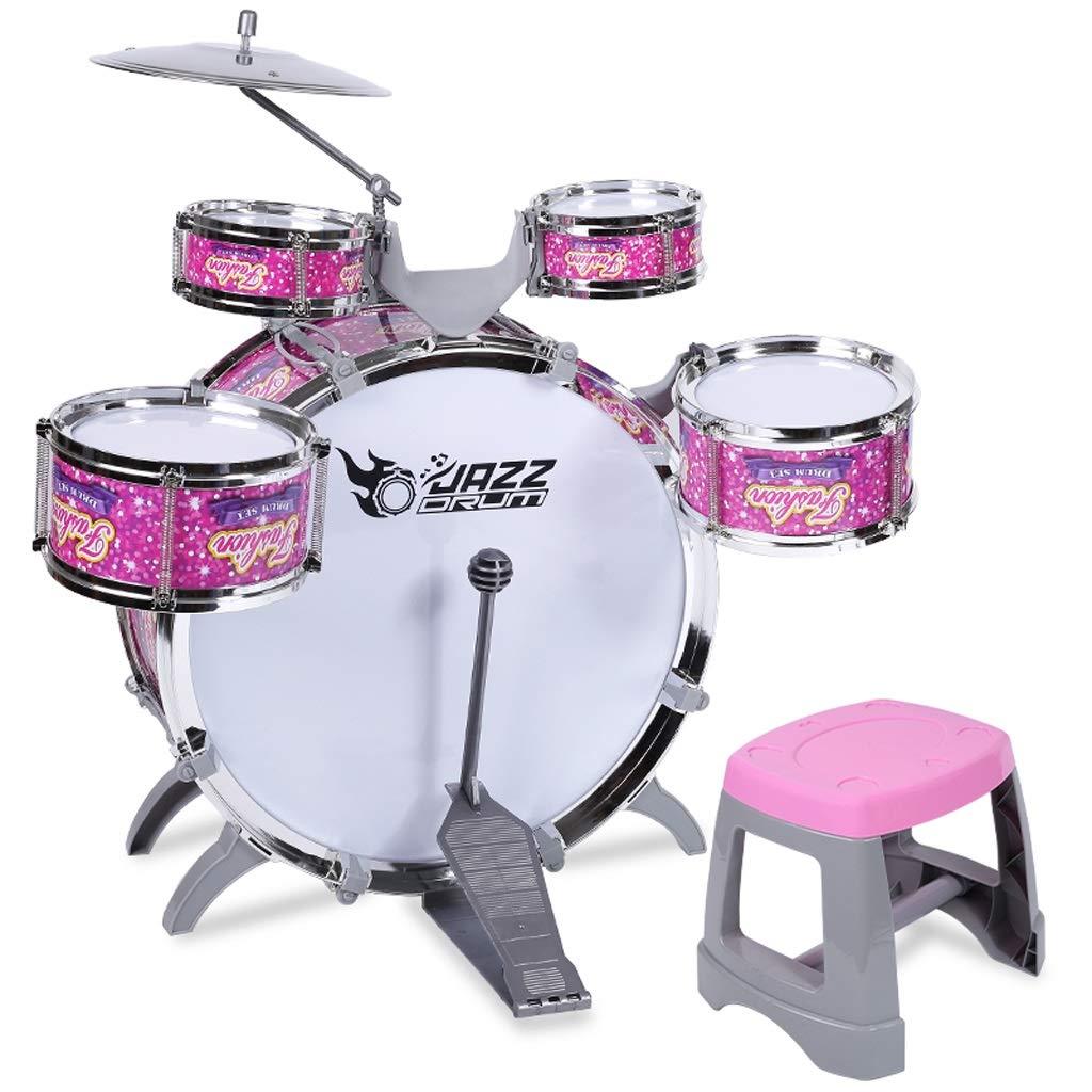 HXGL-ドラム 子供のドラムボーイズガールズおもちゃパズル音楽ギフトロック (色 : さいず Pink, サイズ さいず : 5 5 : drums) 5 drums Pink B07L9VCRKQ, カイナンシ:7f250d4d --- krianta.ru