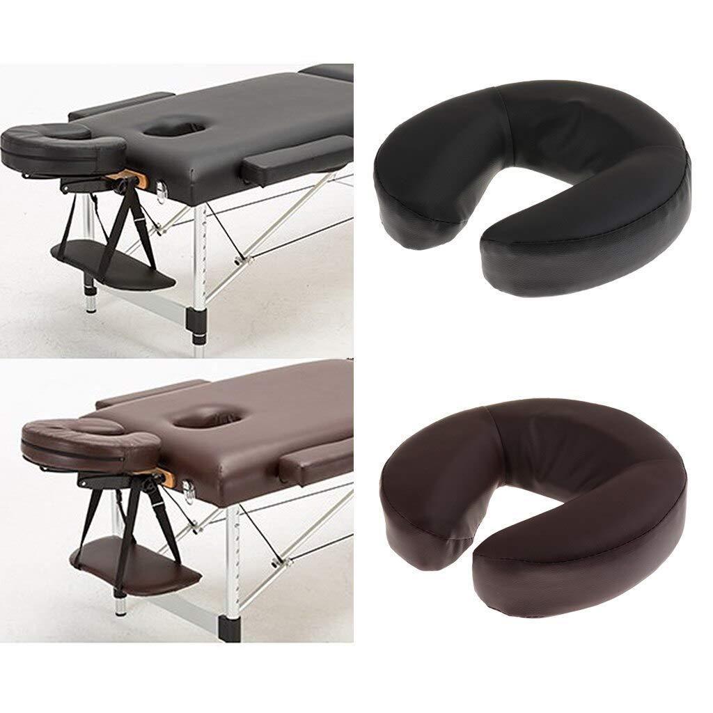 SYH01 2pcs U Shaped PU Leather Foam Face Cradle Cushion Pillow For Massage Chinese Neck Back Heat Massager Pillow Massage Shiatsu Head