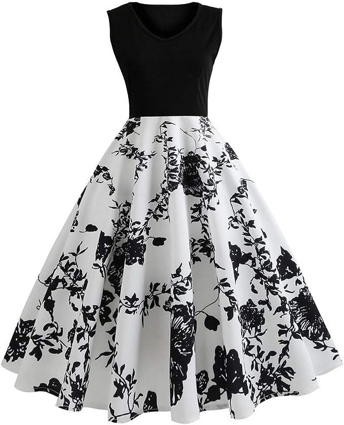 Amazon.com: Vestidos vintage para mujer, vestido corto retro ...